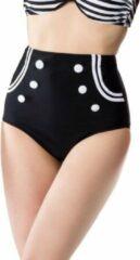 Belsira Bikinibroekje -S- Vintage Zwart/Wit