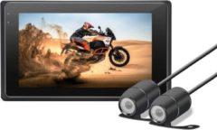 Zwarte Motocam M2F 2CH Dual FullHD motor dashcam voor auto
