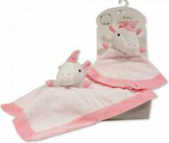 Nursery Time Knuffeldoekje Eenhoorn 30 X 30 Cm Polyester Roze