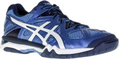 Blauwe Asics Gel-Tactic indoorschoenen Dames Sportschoenen - Maat 43.5 - Vrouwen - blauw/wit