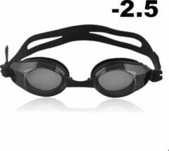 Zwarte Opmost Zwembril op sterkte - myopia (-2.5)