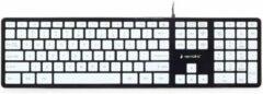 Gembird Keyboard KB-MCH-02-BKW (membrane; USB 2.0; black color) toetsenbord