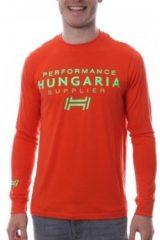 Oranje T-Shirt Lange Mouw Hungaria