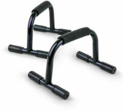 Vinex - Push up Bar Iron - Stabiele Opdruksteunen - Parallettes - Push-up Bar - Push-up Steun - Opdrukbeugel - Push-upbar - Opdruksteun - set van 2 stuk - Staal Frame - Zwart
