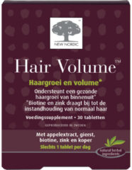 New Nordic Hair Volume – Haargroei en volume – Voedingssupplement met biotine en zink – 30 tabletten