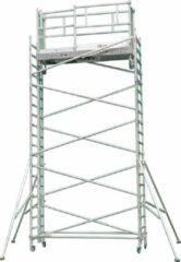 Grijze Lockhard Rolsteiger Hoogwerker de Alulift werkhoogte 400 cm.- De Solarlift bij uitstek! 250 kg belastbaar.
