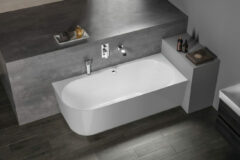 Polysan Sussi half vrijstaand bad rechts 159.5x70cm wit
