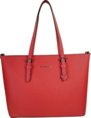 Rode Flora & Co Shoulder Bag Saffiano Red