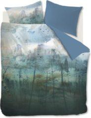 Blauwe Kardol & Verstraten Kardol Epiphany Dekbedovertrek - 2-persoons (200x200/220 Cm + 2 Slopen) - Katoen Satijn - Blue Grey
