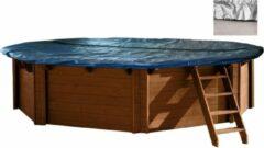 Grijze Interline Zwembad Interline winterafdekking voor houten zwembaden - 8,40 x 4,90 m ovaal