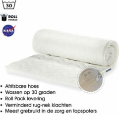 Witte OmRa bedding scandic Topdek Matras - Topper Traagschuim - Nasa - Visco - 100x220cm