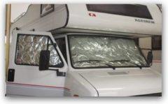 Witte Camperencaravanonderdelen Isotherm gordijn (Ducato-Peugeot J5 t/m '90)