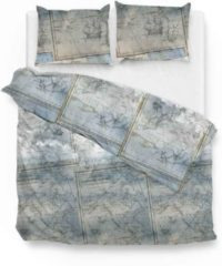 Blauwe Zo! Home Zo!Home Benjamin - Dekbedovertrek - Eenpersoons - 140x200/220 cm + 1 kussensloop 60x70 cm - Blue