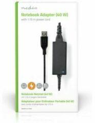 Zwarte Nedis Notebook-adapter | 40 W | Yoga-3 20 V / 2 A | Geschikt Voor Lenovo Incl. Voedingskabel