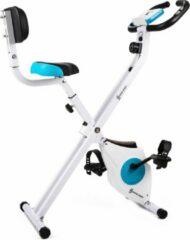 Witte Capital_sports CAPITAL SPORTS Azura - hometrainer fietstrainer - fitness bike - weerstand op 8 niveaus - hartslagmeter - opvouwbaar - 100kg max.
