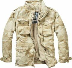Zandkleurige Brandit Jas - Jack - M65 - Giant - zware kwaliteit - Outdoor - Urban - Streetwear - Tactical - Jacket Jack - Jacket - Outdoor - Survival Heren Jack Maat 3XL