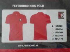 Rode Feyenoord Kids Polo - Polo Shirt voor kinderen maat 116-122