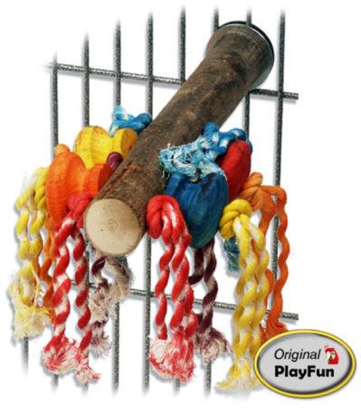 Afbeelding van Homestyle Vogelspeelgoed Fun Perch - Vogelspeelgoed - 20x4x26 cm Multi-Color