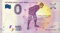 Paarse 0 Euro Biljet 2019 - Jaap Eden