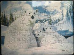 Stemen Kinderpuzzel ijsbeer 28 cm x 21 cm