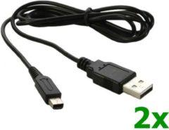 Zwarte NedRo USB Oplader voor Nintendo DSi (XL) 3DS (XL) 2DS x2 stuks