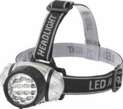 SBE LED Hoofdlamp - Aigi Heady - Waterdicht - 35 Meter - Kantelbaar - 14 LED's - 1W - Zilver | Vervangt 8W - BES LED