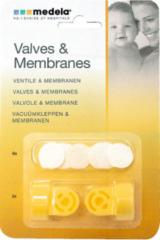 Gele Medela - vacuumset - 2 klephuizen - 6 membranen