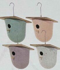 VanNatuurlijk.nl Vogelhuisje | design eco bamboe | bowl | groen | 18,5 x 20 cm