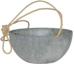 Plantenwinkel.nl Artstone fiona hanging basket grijs L