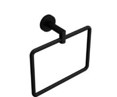 Muebles Line handdoekring mat zwart