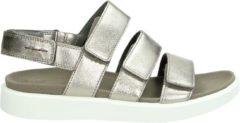 Zilveren ECCO Flowt dames sandaal - Brons - Maat 39