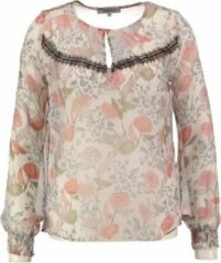 Beige Morgan transparante polyester blouse polyester - Maat 38