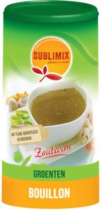 Afbeelding van Sublimix Groentebouillon zoutarm glutenvrij 260 Gram