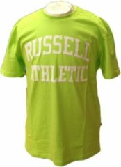 Russell Athletic Heren T Shirt - Lime/Wit - Maat XL