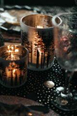 Bruine Destino Interior & Design Feestdagen waxinelichthouder | bos | 7x8 cm