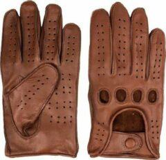 Swift racing leren handschoenen nappa bruin | Maat S