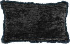 Mica Decorations Kussen Gestreeept 50 X 30 Cm Textiel Grijs/navy