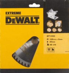 DeWalt DT1090 Cirkelzaagblad Extreme 165x1.6x20mm 48T