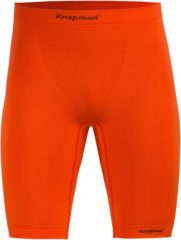 Knap'man Knapman Zoned 45% Compressie Short Heren Sportbroek - Maat XL - Mannen - oranje