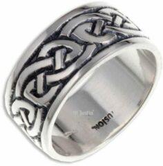 St Justin Ltd Endless Knot (Broad) Zilveren Ring,keltische ring Maat 66
