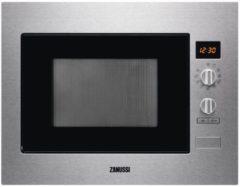 Roestvrijstalen Zanussi ZBC34350X inbouw combimagnetron met draaiplateau en hetelucht ovenfunctie