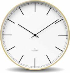 Beige Huygens - Wood 35 Index - Wit - Wandklok - Stil - Quartz uurwerk