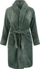 Relax Company Kinderbadjas - Groen - fleece - meisjes & jongens - ochtendjas- maat 110/116