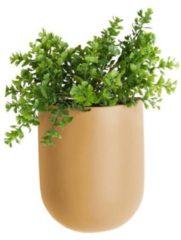 Present Time Woonaccessoires Wall plant pot Oval ceramic matt Beige