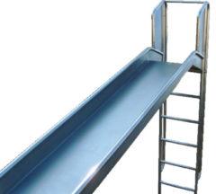 Roestvrijstalen Intergard Glijbaan RVS speeltoestellen speelplaatsen met trap (platformhoogte 150cm)
