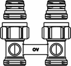 Oventrop H onderblok Multiflex F 3/4 x3/4 recht
