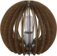 Bruine EGLO Cossano - Tafellamp - 1 Lichts - Ø260mm. - Bruin - Wit