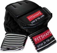 Zwarte Fitshape Free Fight/MMA Handschoenen