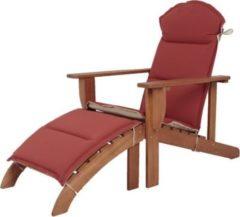 Garden Pleasure Holz Adirondack Chair + Auflage Garten Sonnenliege Relax Liege Möbel Liegesessel
