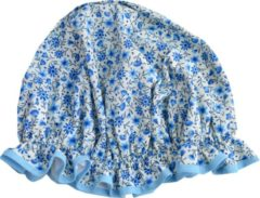 Lichtblauwe Vagabond Traditionele Engelse Douchemuts - Blue Floral